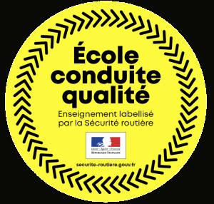 Logo école de conduite qualité auto-école